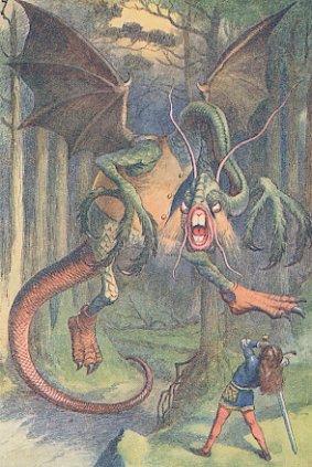 Vintage Print The Jabberwock By John Tenniel