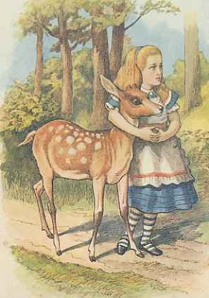 Vintage Print Alice With A Fawn By John Tenniel
