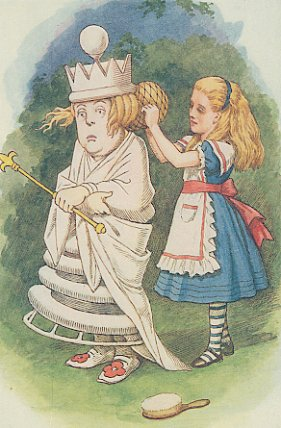 Vintage Print Alice With The White Queen By John Tenniel