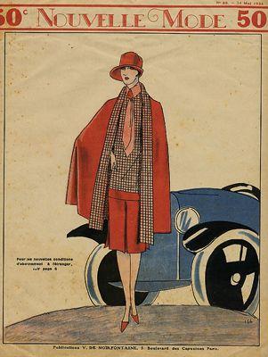 Motoring Art Deco Fashion Vintage Magazine Cover