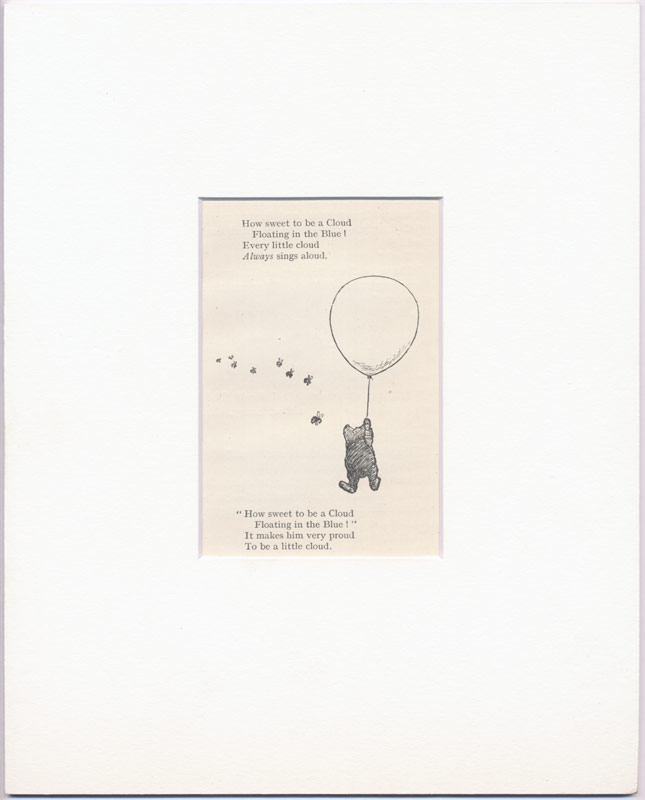 Pooh Holding Onto A Baloon