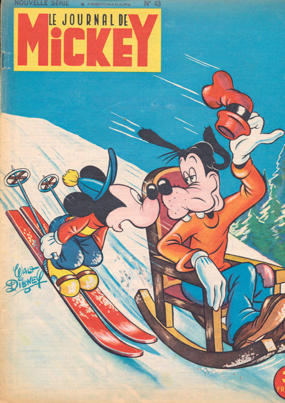 Goofy Skiing Downhill In A Rocking Chair Vintage Magazine