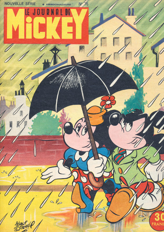 Minnie Mouse And Mickey Walking In The Rain Vintage