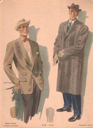Vintage Men's Fashions, 1951