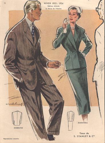 Vintage Fashion Print, 1953