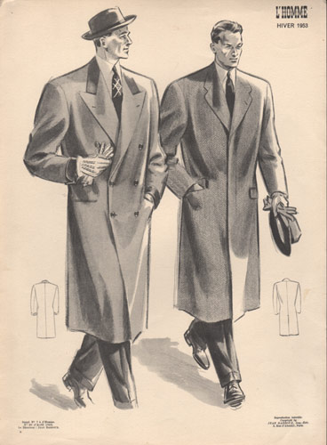 Vintage Fashion Plate, Men, 1953