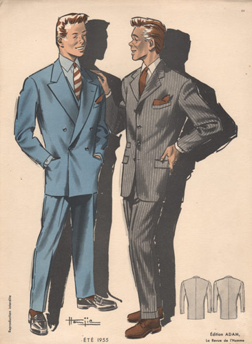 Vintage Fashion Print Men 1950s