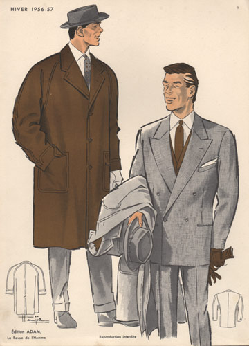 Vintage Fashion Print Mens Fashions 1950s