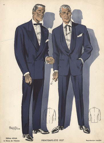 Vintage Fashion Plates from L'Homme, 1950s & 60s