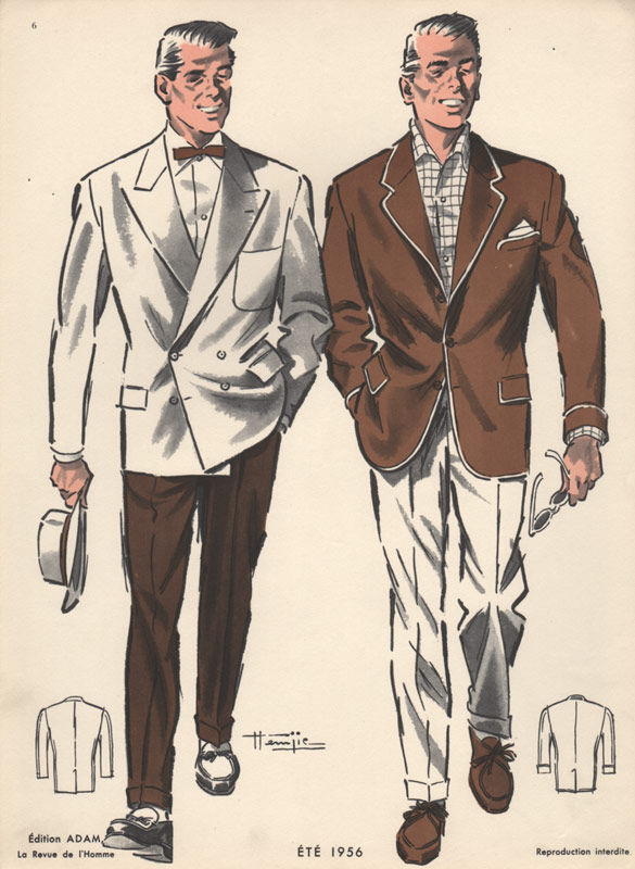 Summer Fashion For Men Vintage Print 1950s