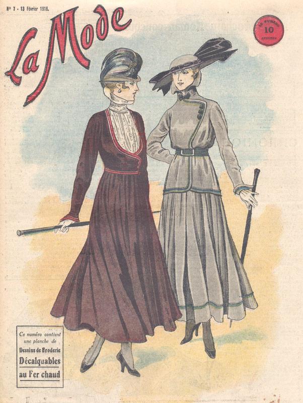 Vintage Print Ladies Fashions 1916
