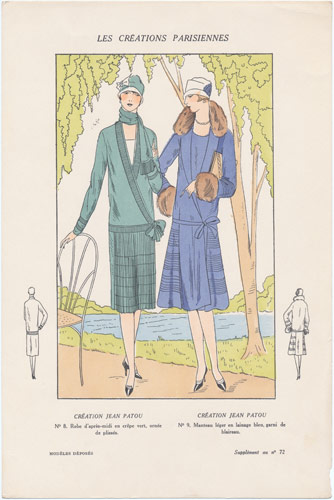 Fashions By Designer Jean Patou Antique Print 1920s