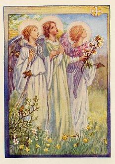 Image is loading ALPHABET-FLOWER-FAIRIES-Panel-ABC-Fairy-Blocks-Cicely-