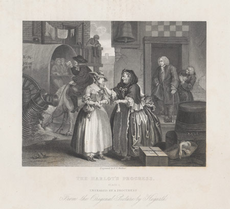 an analysis of harlots progress a series of prints by william hogarth Hogarth experienced his first big financial success with a harlot's progress, a  series of  the theme of this series is about marriage for money  therefore all  prints designed afterwards, were created exclusively as print designs without any .