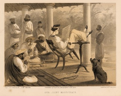 """Life of leisure, massacre, extortion, servants, luxury, it is not surprising that some are nostalgic for that exploitative past. ((Image from """"Curry & Rice"""" on Forty Plates: or the Ingredients of Social Life at """"Our Station""""; Published 1859; written by George Francklin Atkinson, a captain of the Bengal Engineers. Image source and courtesy - collectorsprints.com). Click for source image."""