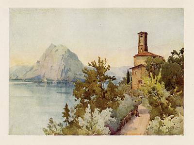 Lake Lugano Oria ITALY Lago di Lugano 1905 old antique print picture