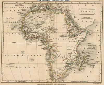 Antique Map of Africa circa 1840