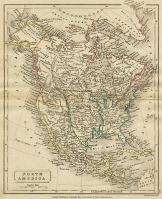 North America the Continent of North America Antique Maps