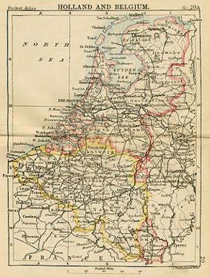 miniture map of holland and belgium