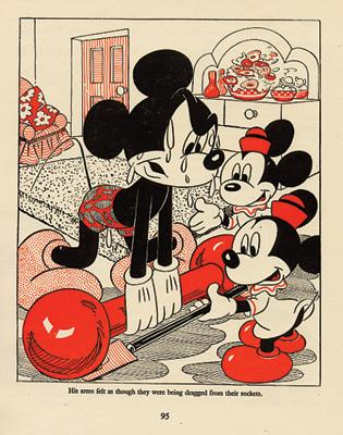 Mickey Mouse Lifting Weights Vintage Disney Picture 1940s