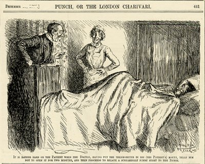 Vintage Cartoon From Punch Of A Doctor With Patient 1907
